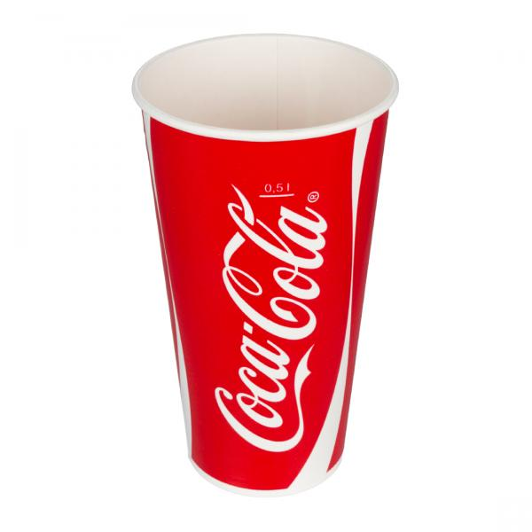 Pappbecher Coca Cola 500ml