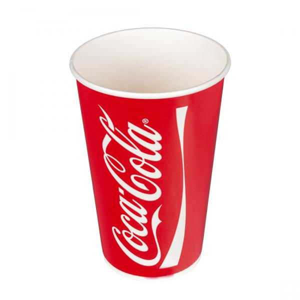 Pappbecher Coca Cola 400ml