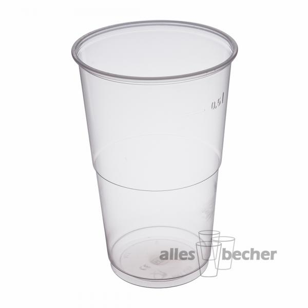 PP Ausschankbecher transparent 500ml