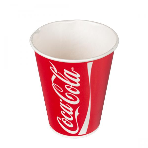 Pappbecher Coca Cola 300ml